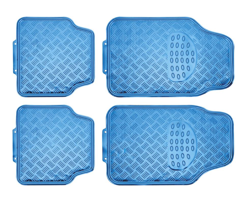 Juego alfombras en pvc alu look azul comprar online - Alfombras de pvc ...