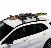 Juego de 2 portaesquís CRUZ Ski-Rack Dark para 4 pares de esquís ó 2 tablas snowboard (acabado en negro)