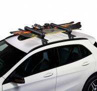 Juego de 2 portaesquís CRUZ Ski-Rack Dark para 6 pares de esquís ó 4 tablas snowboard (acabado en negro)