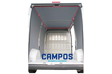 Paneles de techo para furgoneta de contrachapado con polipropileno gris TOYOTA PROACE CITY 18-> 2975 XL L2-H1 P.L.C. CON PANELES INTERIORES