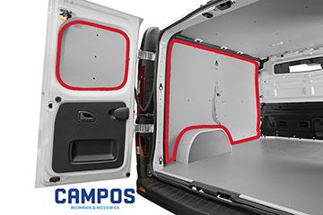 Paneles laterales interiores para furgoneta de contrachapado con polipropileno gris TOYOTA PROACE CITY 20 -> 2975 XL  L2-H1 DOS P.L.C., LATERAL COMPLETO, PARTE SUPERIOR DEL VEHÍCULO