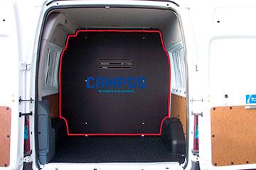 Separador de carga para furgoneta de contrachapado marrón de abedúl RENAULT TRAFIC 14-> L1L2-H1 P.L.C., PTAS. TRASERAS, SEPARADOR DE CARGA 1 POSICION