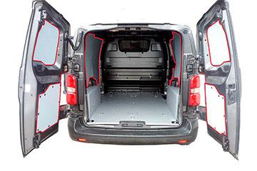 Paneles laterales interiores para furgoneta en polipropileno estructurado TOYOTA PROACE CITY 20 -> 2975 XL  L2-H1 DOS P.L.C., LATERAL COMPLETO, PARTE SUPERIOR DEL VEHÍCULO
