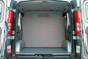 Separador de carga para furgoneta de contrachapado gris de abedul RENAULT TRAFIC 14-> L1L2-H1 P.L.C., PTAS. TRASERAS, SEPARADOR DE CARGA 1 POSICION