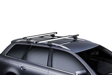 Barras de techo en aluminio Thule SlideBar para coche 891 + 7104