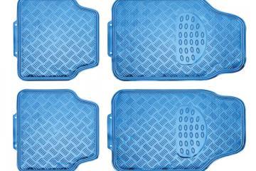 Juego alfombras en PVC ALU-LOOK azul