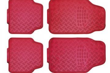Juego alfombras en PVC ALU-LOOK rojo