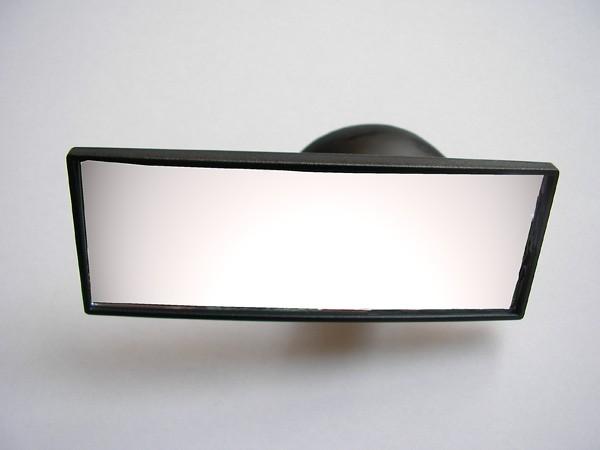 Espejo interior suplementario con ventosa para coche (120x45mm)