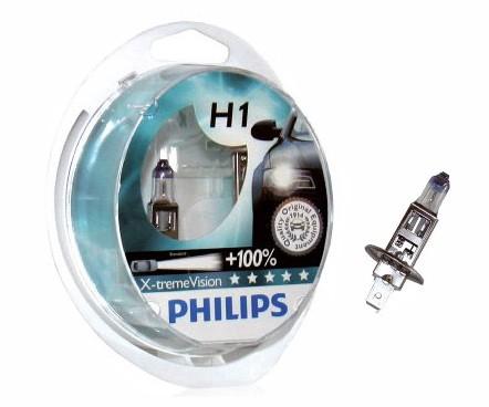 Juego 2 lámparas PHILIPS XtremeVision H-1