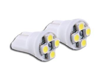 Juego 2 lámparas sin casquillo 4 leds luz blanca