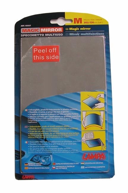 Lámina de espejo retrovisor exterior adhesiva para coche (202x126mm)