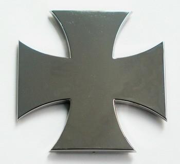 Adhesivo relieve cromado Choppers Cross