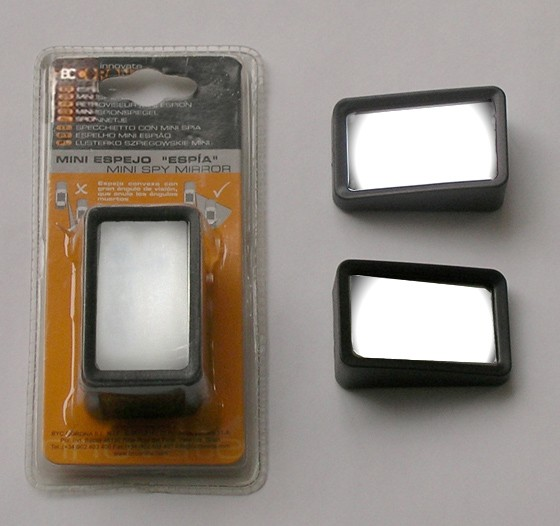 Juego 2 mini-espejos espía para coche (58x37mm)