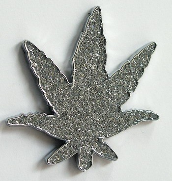 "Adhesivo relieve Diamond ""Marihuana"""