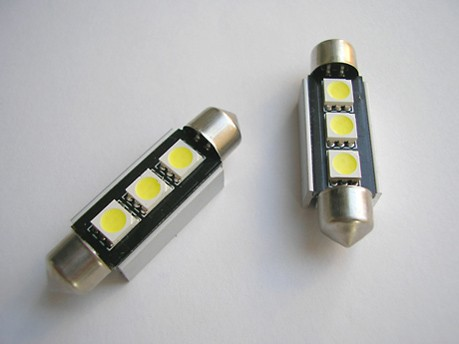 Jgolámparas plafón 3 leds luz blanca 42mm (CAN-BUS)