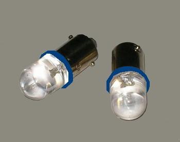 Juego 2 lámparas con casquillo led azul