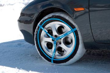 Juego de 2 cadenas de nieve textiles Premium- Trendy 40M