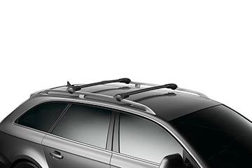 Barras de techo en aluminio Thule WingBar Edge Negras para coche 9582B