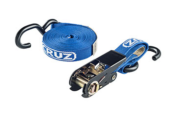 1 correa/cincha CRUZ, sujeta-equipajes de 5 metros de longitud con trinquete y gancho para coche
