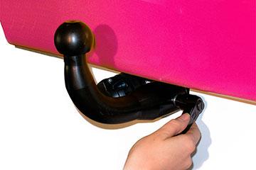 Enganche con bola desmontable semi-automática sistema horizontal para coche