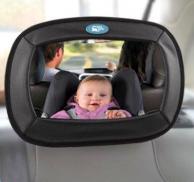 Espejo interior para bebés sobre respaldo trasero del coche