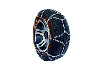 Juego de cadenas de nieve en acero de 7 mm Ideal 708 ( especial para ruedas de perfiles bajos)