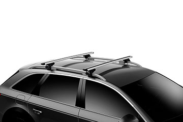 Barras de techo en aluminio Thule WingBar Evo para coche 711200 + 118 + 7104