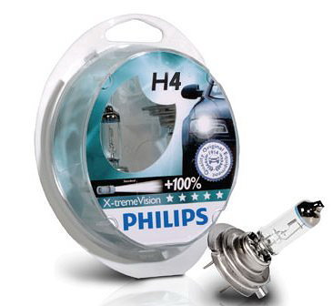 Juego 2 lámparas PHILIPS XtremeVision H-4