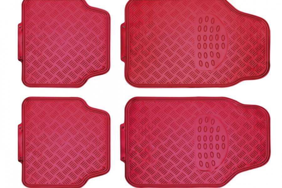 Juego alfombras en pvc alu look rojo comprar online - Alfombras de pvc ...